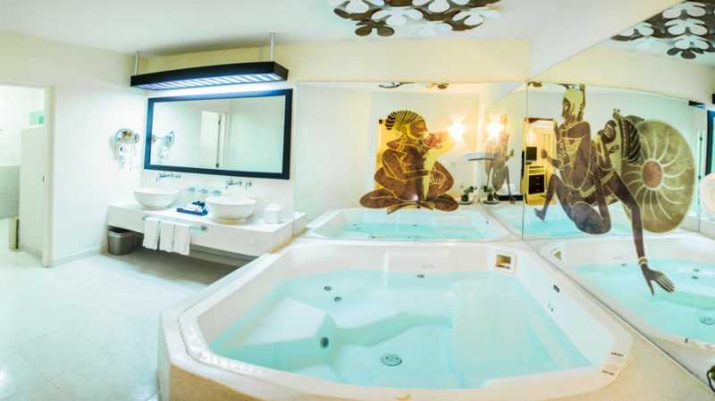 Jacuzzi Oceanview Suite  at Desire Resort and Spa Riviera Maya